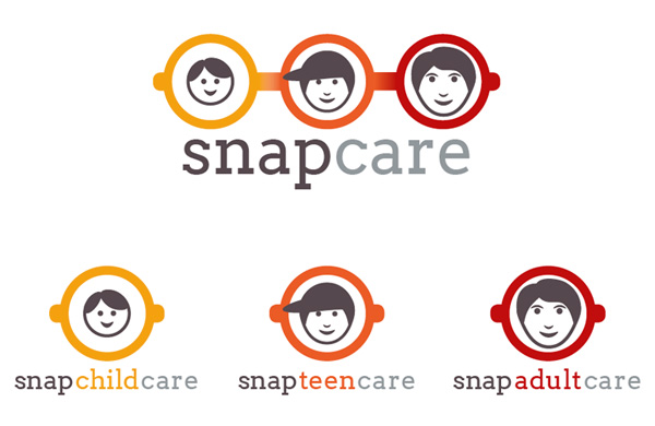 Logo designs and branding created for Snap Childcare Ltd using Adobe software