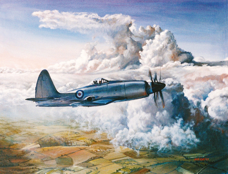 Westland Wyvern, private commission - acrylic painting on canvas