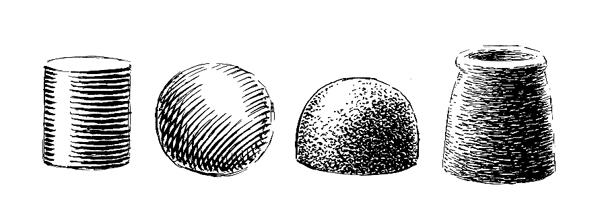 Examples of shading techniques with a dip pen
