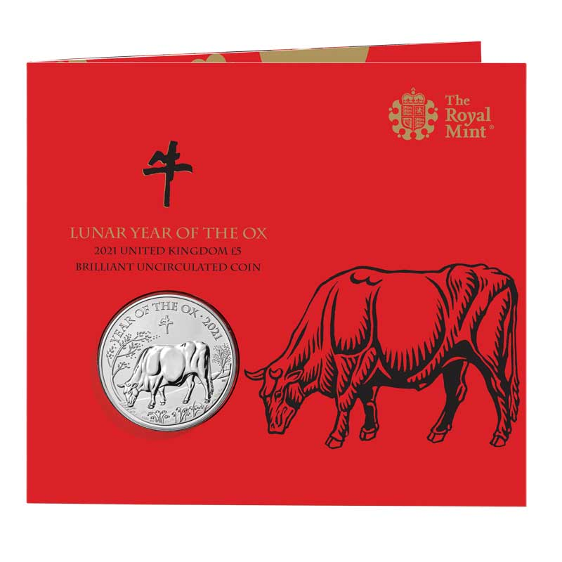 Illustration for the Royal Mint Chinese Lunar Year of the Ox 2021 coin packaging - linocut