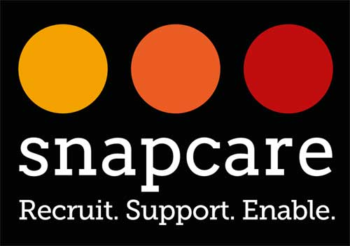 Logo design created for Snap Care using Adobe software